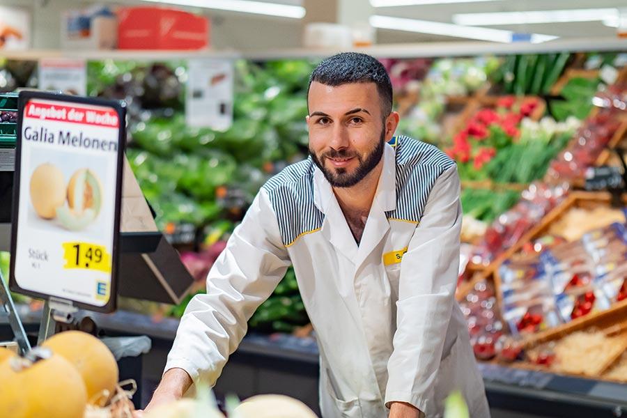Ausbildung in einem Supermarkt